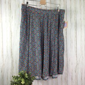 LuLaRoe Madison Size 3XL Pleated Skirt Geometric